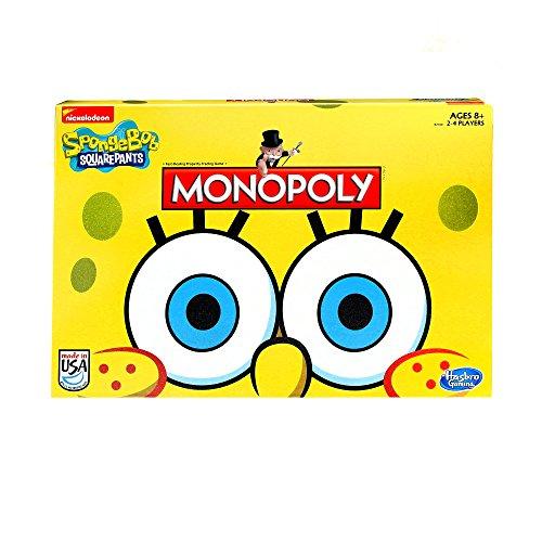 Hasbro Monopoly Juego Esponja Bob, edición Cuadrada