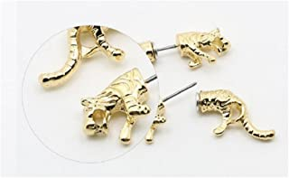 Women's 18K Glod Leopard Head Design Stud Earrings