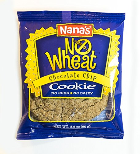 Nana's No Wheat Chocolate Chip Cookies, 3.2 Ounce Packages (Pack of 12)