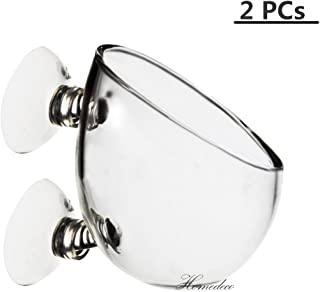 Homedeco Crystal Glass Aquatic Plant Cup Pot, Mini Aquarium Red Shrimp Fish Tank Crystal Holder