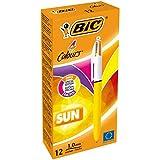 BIC 4 colores Sun Bolígrafos - Caja de 12