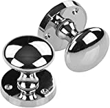 Mortice Sprung Chrome Door Knob Set Pack Pair (Knob Set) IRONZONE