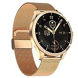 HQPCAHL Smartwatch 1.28' Reloj Inteligente con Monitor De Frecuencia Cardíaca, Monitor De Sueño, Oxígeno Sanguíneo, Smart Watch IP68 Impermeable con Podómetro Caloría para Hombre Mujer,Oro