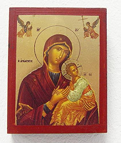 Griekse icoon Madonna ca. 7 x 9 cm