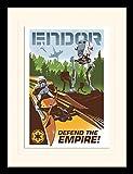 1art1 Star Wars - Endor Gerahmtes Bild Mit Edlem