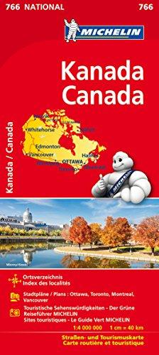 Michelin Kanada: Straßen- und Tourismuskarte 1:4.000.000 (MICHELIN Nationalkarten)