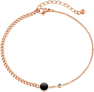CXQ Personality Temperament Anklet Rose Gold Foot Ring Jewelry Couple Accessories Gift