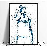 yhnjikl Dirk Nowitzki Basketball Star Sport Leinwand Poster