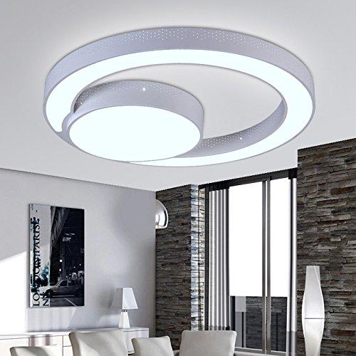 Ancernow Creative LED plafoniere Semplice montaggio a soffitto personalità luci romantica per la camera da letto,soggiorno,stanza dei ragazzi,cucina,corridoio,sala studio,60cm Cerchio,luce bianca