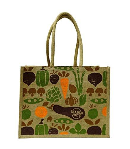 (トレーダージョーズ)trader joes 野菜の並んだエコバッグ ジュート [並行輸入品]