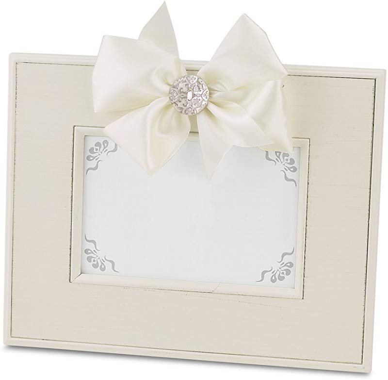 Bearington Fancy That Frame Cream Striated Magnetic Picture Frame 4 X 6