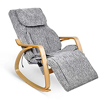 Furgle Massage Chair w/Air Compress 3D Shiatsu Massage 8 Modes Full Body Massage Vibration Heat Rocking Recliner Kneading Tapping Rolling for Shoulder Neck Back Waist and Hips