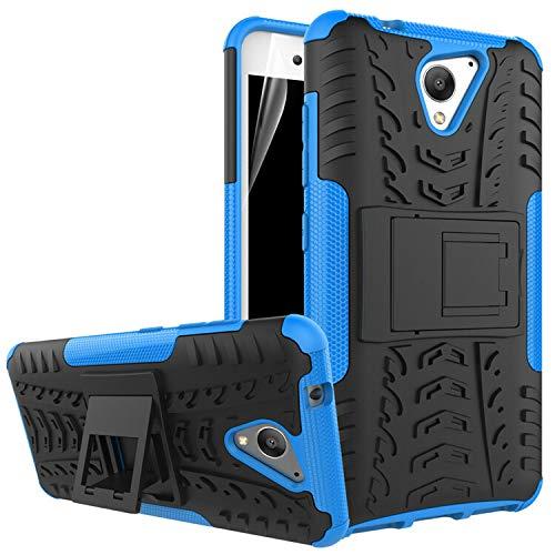 betterfon | Outdoor Handy Tasche Hybrid Hülle Schutz Hülle Panzer TPU Silikon Hard Cover Bumper für ZTE Blade A510 Blau