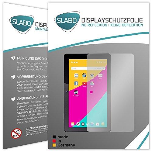 Slabo 2 x Bildschirmschutzfolie für Dragon Touch X10 Bildschirmschutz Schutzfolie Folie No Reflexion | Keine Reflektion MATT