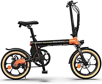 Macwheel 16 Inch Folding Electric Bike with 7.5Ah Lithium-ion Battery