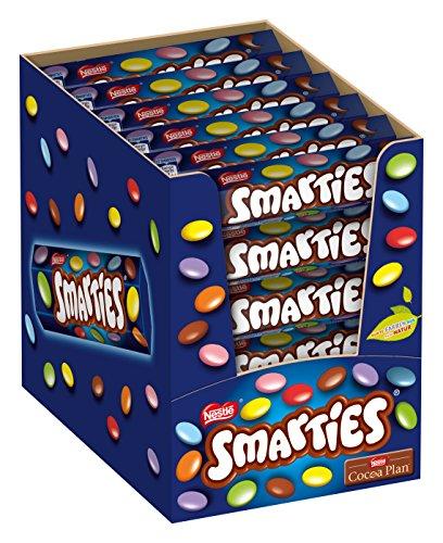 Nestlé SMARTIES, bunte Schokolinsen, ideal für Kindergeburtstage, ohne künstliche Farbstoffe, Großpackung für kleine Naschkatzen, 36er Pack (36 x 38 g)