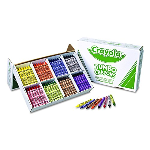Crayola Jumbo Crayons Classpack, Toddler Crayons, 8 Colors, 200 Count, 8 Assorted (528389)