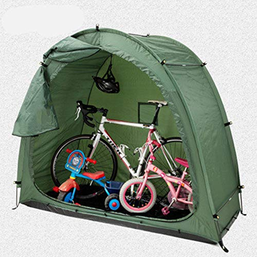 Tauzveok Parking Outdoor Bicycle Cover, Mountain Bike Storage Bag Tent, Durable, Used for Groceries, Rain And UV Protection, Fishing And Insect Protection (Green),Green,200 * 88 * 165CM