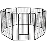 【Heavy Duty Dog Playpen】 Constructed with heavy duty metal material, Giantex pet dog playpen is sturdy and durable enough for your long-time use. And it is rust proof and weather resistant, providing a comfortable and safe exercise pen perfect for sa...