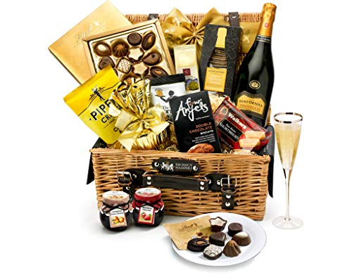 Tetbury Hamper With Prosecco - Hand Wrapped Gourmet Food Basket, in Gift Hamper Box