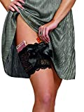 Dreamgirl Women's Lace Garter Wallet with Pockets for Phone and Credit Card S/M Black