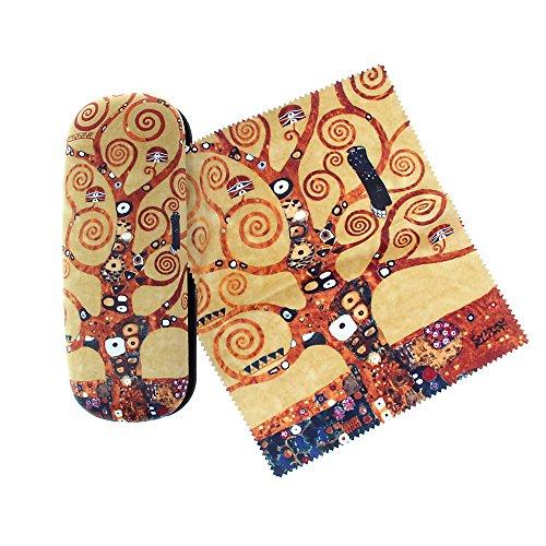 Funda para gafas de Gustav Klimt 'Árbol de la vida' con revestimiento de terciopelo