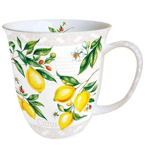 Ambiente Becher - Mug - Tasse - Tee/Kaffee Becher ca. 0,4L Citrus