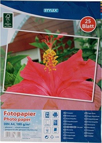 25hojas de papel fotográfico/A4/brillante/180g/m²