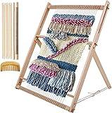 Myriad Choices Webrahmen aus Holz Webstuhl 60x47cm mit Wendekamm Stellstange für Anfänger und Erwachsene um Schals und Dekorationen zu Machen