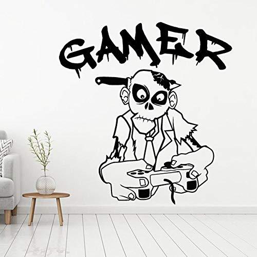 Reproductor pegatinas de pared arte pegatinas de pared vinilo de pared decoración del hogar niños habitación de niños zombie play autoadhesivo