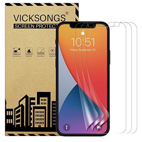 VICKSONGS 3 protectores de pantalla compatibles con iPhone 12 Mini, ultra claro, protector de pantalla para iPhone 12 Mini [antiarañazos, antiaceite, antiburbujas]