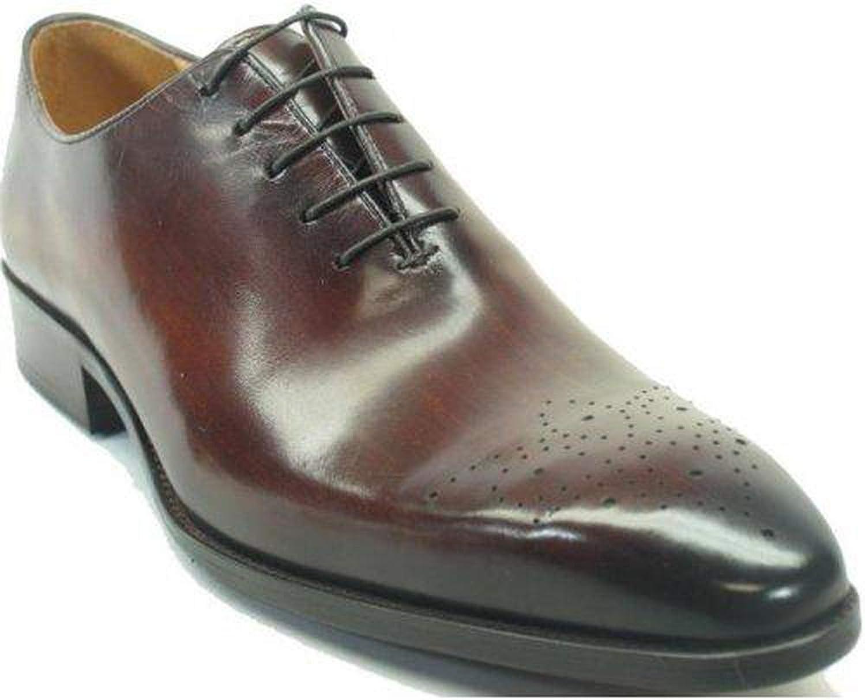 Carrucci Men's Brown Genuine Leather Oxford Dress shoes KS503-36