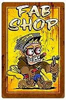 なまけ者雑貨屋 Fab Shop ブリキ看板 アメリカン 壁掛けプレート レトロ雑貨 インテリア