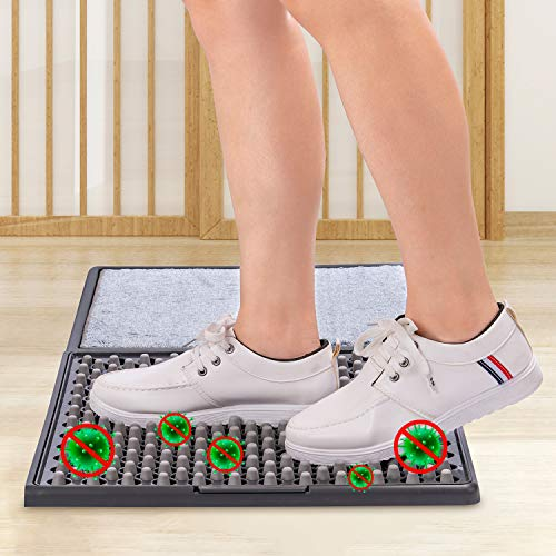 TMOUNT Disinfect Front Door Mat, Sanitizing Footbath Mat&Shoe Soles Disinfecting Floor Mats,Automatic Sole Cleaning Household Foot Pads for Home Hospital Restaurant Entrance