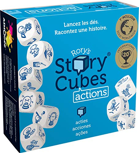 Asmodée Story Cubes: Acciones - Todas las versiones disponibles, Multilenguaje (ASMRSC02ML1)