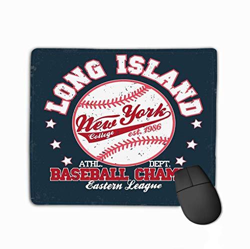 Mousepad rutschfester Gummi personalisierte einzigartige Gaming-Mauspad Baseball-Druck Mode Typografie Stempel New York Sport Design Sportbekleidung USA Original tragen
