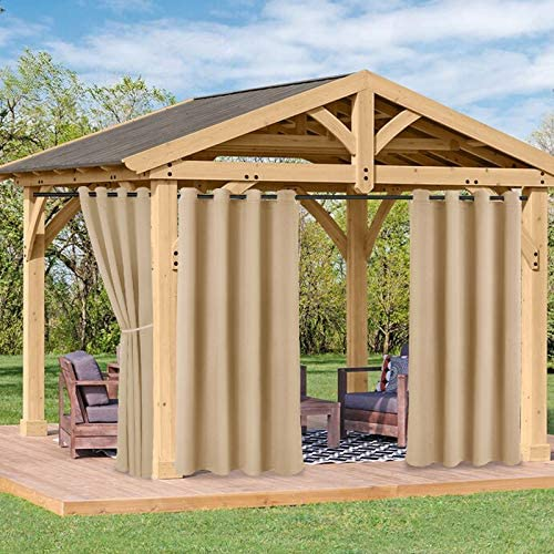 half Be super welcome FLOWEROOM Indoor Outdoor Curtains for and Cabana Patio Pergola