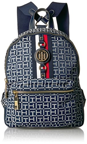Tommy Hilfiger Women's Backpack Jaden, Navy/White, One Size