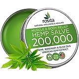 Premium Hemp Balm - Ultra Strong Natural Pain Relief - 200,000 Hemp Extract - Rosemary & Hemp Oil - Anti-Inflаmmаtory for Joint, Muscle, Arthritis Pain - Fast Acting Hemp Salve - Made in USA - Non-GMO