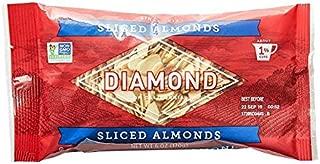 Diamond of California, Sliced Almonds, Non GMO, No Added Salt, 6 oz. (Pack of 6)