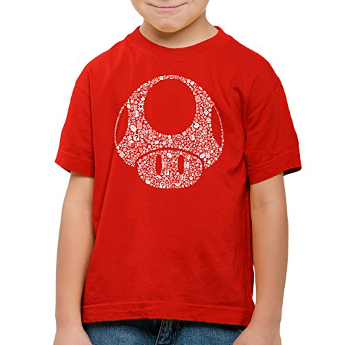 A.N.T. Another Nerd T-Shirt A.N.T. Super Toad Play Kinder T-Shirt Mario Pilz Game Gamer, Farbe:Rot;Größe:116
