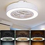 Ventilador de techo con luces y teledirigido, de techo contemporáneo luces regulable 40W, Luz del ventilador for la sala de estar, dormitorio