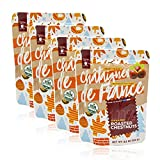 Gourmanity 3.5 oz Pack Of 4, Organic Roasted Chestnut Pouches From Ardeche, France, Chestnuts Roasted Peeled, Cooked Whole Chestnuts From France, Chestnuts Peeled And Ready To Eat, Shelled Chestnuts