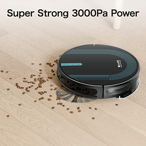 Proscenic 850T WLAN Saugroboter, Staubsauger Roboter, Alexa & Google Home & Appsteuerung, Saugroboter mit Wischfunktion, 3000Pa Saugleistung auf Teppichen und Hartböden, Magnetband für Begrenzung - 3