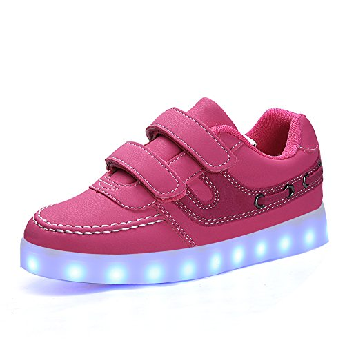 XinYiQu Kids PU Leather Shoes Round Toe Casual Sneakers for Boys Girls