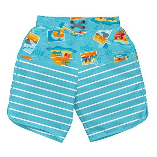 i play. 722154-637-42 Mix und Match Ultimative Schwimmwindel Board Shorts 3-6 Monate, Surf Sunset, aqua