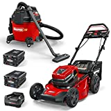 Snapper XD 82V Cordless Electric Bundle with Step Sense 21-Inch Lawn Mower, Wet/Dry Shop Vacuum, 2 Batteries & Rapid Charger