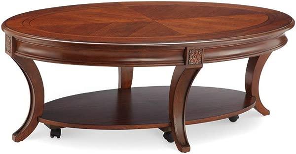 马格努森 T4115 47 温斯莱特椭圆形鸡尾酒桌带脚轮 18 5X50X30