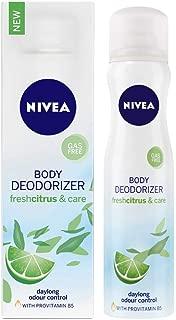 NIVEA Deodorizer, Fresh Citrus & Care Deodorant, Gas Free, Women, 120ml