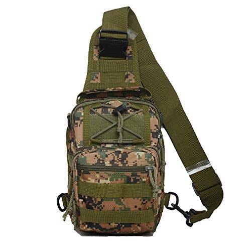 tactique sac à bandoulière Cross corps poitrine épaule Sac à dos militaire EDC molle de pêche à la mouche pour iPad Mini en nylon extérieur Camping Randonnée Voyage